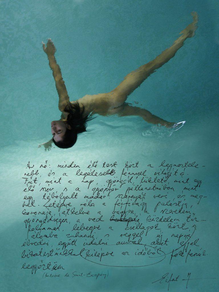 Zsuzsanna a fürdőben.... Képversek, képnovellák / Seeing Words, Listeing Pictures (Kecskemét, 2008. november 14.)